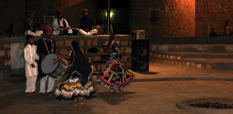 Rajasthani Traditional Songs and Dance at the Camp